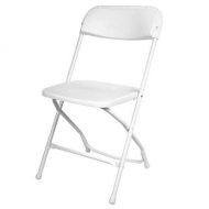 Plastic Folding Chair : White
